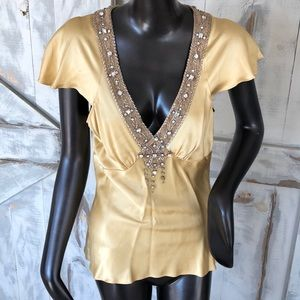 Tracy Reese silk sleeveless blouse